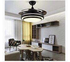 Orillon Reverse Ceiling Fan 42� Black Modern Retractable Ceiling Fan Led Light