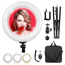 "18"" Dimmable Video LED Ring Light Lighting Kit with Stand Cellphone Photo Light"