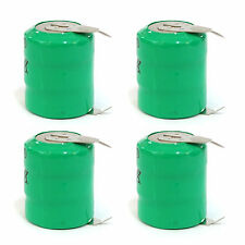 4 pcs Ni-MH 80mAh 3.6V button Cell Rechargeable Battery with tab Green US Stock