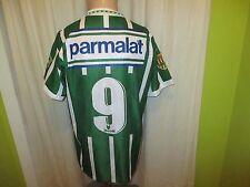 "Palmeiras São Paulo Rhumell Matchworn Trikot 1993/94 ""parmalat"" + Nr.9 Gr.L"