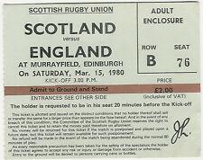 More details for scotland v england 15 mar 1980 rugby ticket - english grand slam match