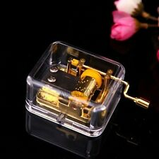 Acrylic Gurdy Gold Movement Hand Crank Music Box Lover Birthday Gift Fur Elise