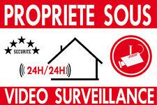 """Panneau de dissuasion  """"propriété sous vidéo surveillance"""" 300x200mm"""
