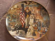 """Gorham The """"Omnibus Muralis"""" Series """"200 Years With Old Glory"""" Plate, 12 3/4"""" D"""