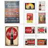 Coca Cola Advertising Vintage Retro Style Metal Tin Signs, 10 Styles Available