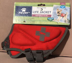 NWT Top Paw Neoprene Life Jacket For Dogs Sizes X-Small - REFLECTIVE