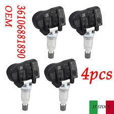4Pezzi - 36106881890 sensori di Pressione Pneumatici per BMW Serie 1 2 3 4 X1 X2