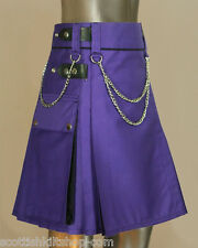 Women Utility Hybrid Kilt With Chain by Scottish Kilt | Made To Measure