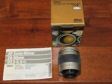 Nikon Zoom-NIKKOR G AF 28-80mm f/3.3-5.6 AF G Lens GREAT COND.