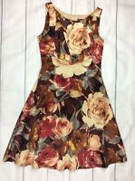 Phase Eight Uk10 Womens Tea Dress Fit And Flare Floral With Silk Summer Casual