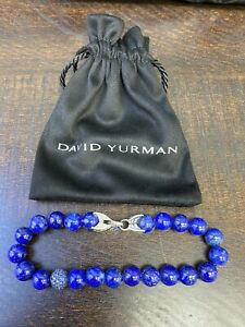 David Yurman • SPIRITUAL BEADS BRACELET   LAPIS LAZULI AND SAPPHIRES 8.5 Inches
