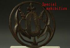 Japan Antique edo bushu tsuba armorer yoroi samurai katana koshirae parts kamon