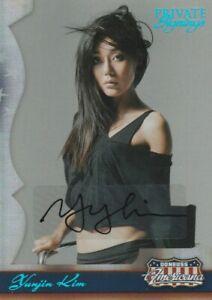 2007 Panini Americana Insert Yunjin Kim Autograph Private Signings Lost 91 /400
