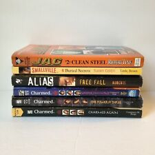 Lot of Six (6) TV Show Series Paperback Books - JAG, Alias, Charmed & Smallville