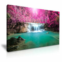 Thailand Waterfall Landscape CANVAS WALL ART PICTURE 20X30 INCHES