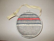 Vintage 9 inch Japanese made round metal trail desert water canteen pre owned
