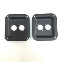 2 Pcs Penn/Elcom Black Metal Speaker Jack Plates for Speakon XLR Connectors RJ45