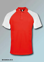 KARIBAN Hombre Béisbol Camiseta Polo de manga corta T.S hasta 4xl Camisa Piqué