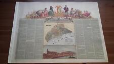 1875 MAPA Provincia de Malaga, Marques de Larios, Cromo Ruiz Boronat y Satorre