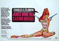 CASINO ROYALE JAMES BOND Belgian movie poster PETER SELLERS Robert McGINNIS MINT