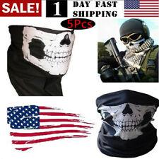 US 5 Ghost Biker Skull Hood Face Mask Motorcycle Ski Balaclava CS Sport Helmet