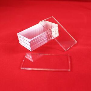 RECTANGLE TRANSPARENT / CLEAR ACRYLIC BASES for Miniatures (300mm x 50mm)