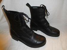 Dansko Lace Up Black Combat Boot Size 39