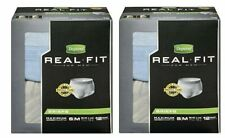 2 PACK Depend Real Fit Briefs Maximum Absorbency, Small Medium, 12 Briefs