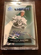 15/16 SP GU Authentic Rookies Blue Auto Brendan Ranford Hockey Card #129