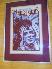 Mardi Gras Lithograph 1977 Micheal P Smith / George Berke Poster New Orleans