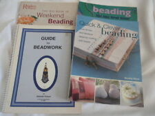FOUR (4) books on BEADING:  Beading for the First Time (Benson); Quick & Clever