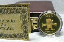 Barcelona 1992 XXV Olympic 22k Gold Commemorative Medal Certificate Authenticity