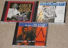 Guitar Legends 3 CD lot. CHUCK BERRY & BB KING. Let it Rock. Rock N'Roll Music.