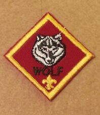 CUB SCOUT WOLF RANK PATCH - CURRENT -    A00791