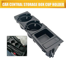 For BMW 3 Series E46 Car Cup Holder Coin Holder Tray Center Console Black 98-04