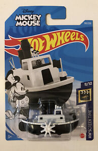 2021 HOT WHEELS #193 - Disney Steamboat (Black & White - Case L Long Card) New