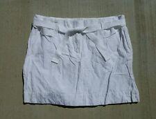 Ann Taylor The Loft Skirt Tie Belt White Size 14 NWT NEW Orig $50 Free Ship
