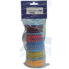 Lot de 5 bobines de 10m de garcettes polyester Ø 3mm