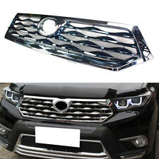 Silvery ABS+Chrome Stripes Front Grille Grill For Toyota Highlander 2011-2013