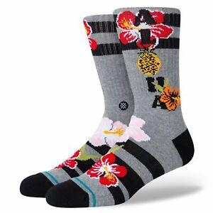 Stance Aloha Hibiscus  Crew Socken Herren L 43 44 45 46 Blumen Hawai Surfer