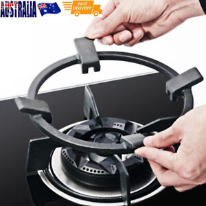 Wok Pan Stand Support Rack Cast Iron Burners Stove Cookware Ring Round Tool
