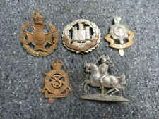 Lot Of 5-Wwi British Army Cap Badges-Fifeshire Forfarshire, Sussex, Northamptons