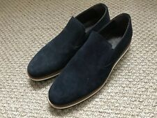 MENS RUSSELL & BROMLEY BLACK SUEDE SLIP ON SHOES SIZE UK7 NEW