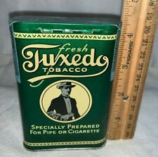 ANTIQUE TUXEDO TOBACCO TIN LITHO VERTICAL POCKET CAN UNBROKEN TAX STAMP VARY 1