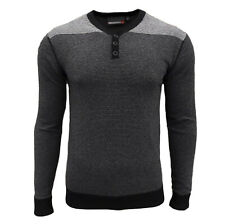 Duck and Cover Men's Hudson Striped Knitted Top Black/Grey