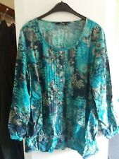 Turquoise green top size 16