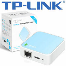 TP-LINK tl-wr802n Wlan Nano Router 300 Mbps BIANCO/BLU - 802.11b/g/n - 2.4 GHz Nuovo