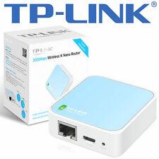 TP-Link TL-WR802N WLAN Nano Router 300Mbps weiß/blau - 802.11b/g/n - 2.4 GHz NEU