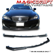 Lexus 06-08 IS250 IS350 JDM PM Front + Side Skirt Extension Combo Body Lip Kit