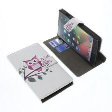 funda para ZTE Blade L3 Plus Book Style Protectora de móvil Blanco Búhos